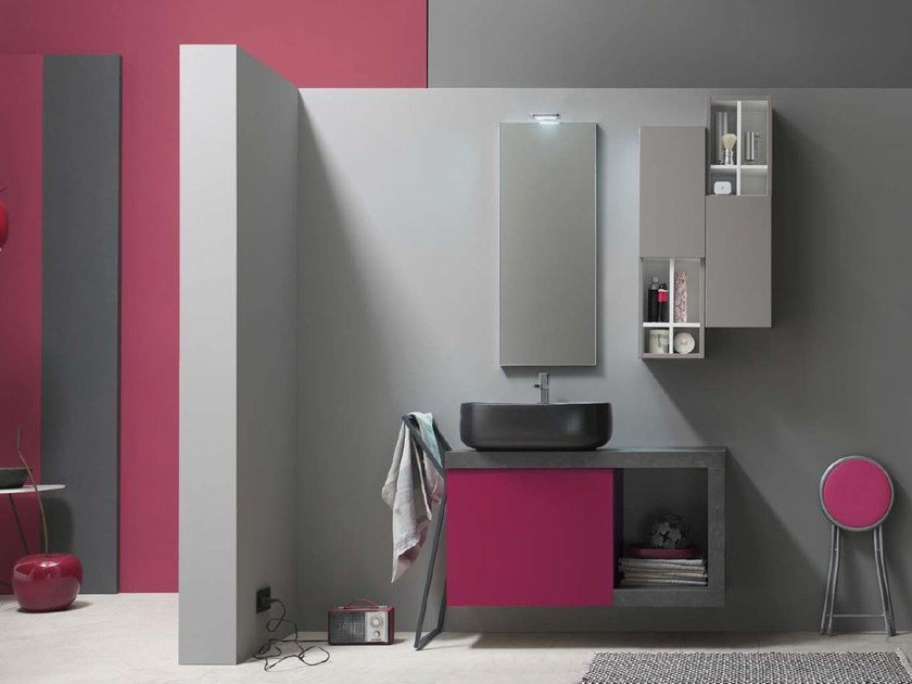 Bathroom cabinet / vanity unit E.LY - COMPOSITION 54 by Arcom
