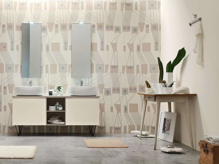 Double lacquered vanity unit E.LY - COMPOSITION 57 by Arcom