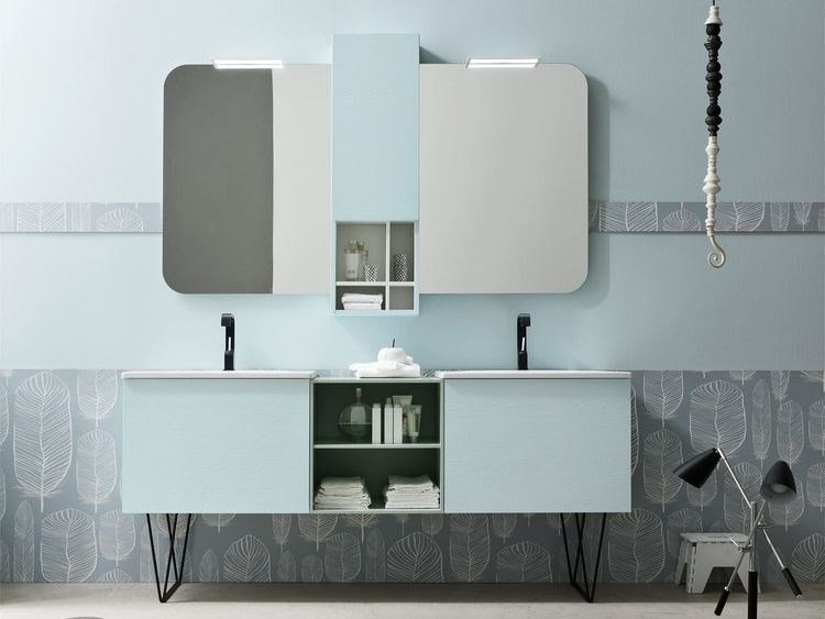 Double lacquered vanity unit E.LY - COMPOSITION 59 by Arcom