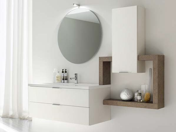 Single ash vanity unit E.LY - COMPOSITION 7 by Arcom