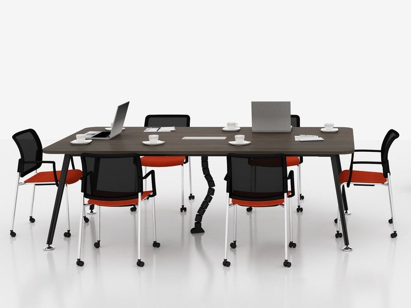 Rectangular wood veneer meeting table E-MOTION | Meeting table by Tuna Ofis