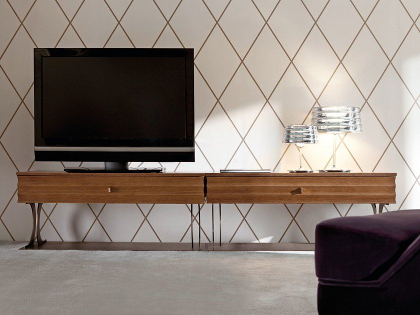 Wooden TV cabinet ELETTRA | TV cabinet by OPERA CONTEMPORARY