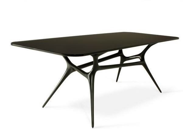 Custom low glass and aluminium coffee table E-VOLVED SALON | Coffee table by FueraDentro