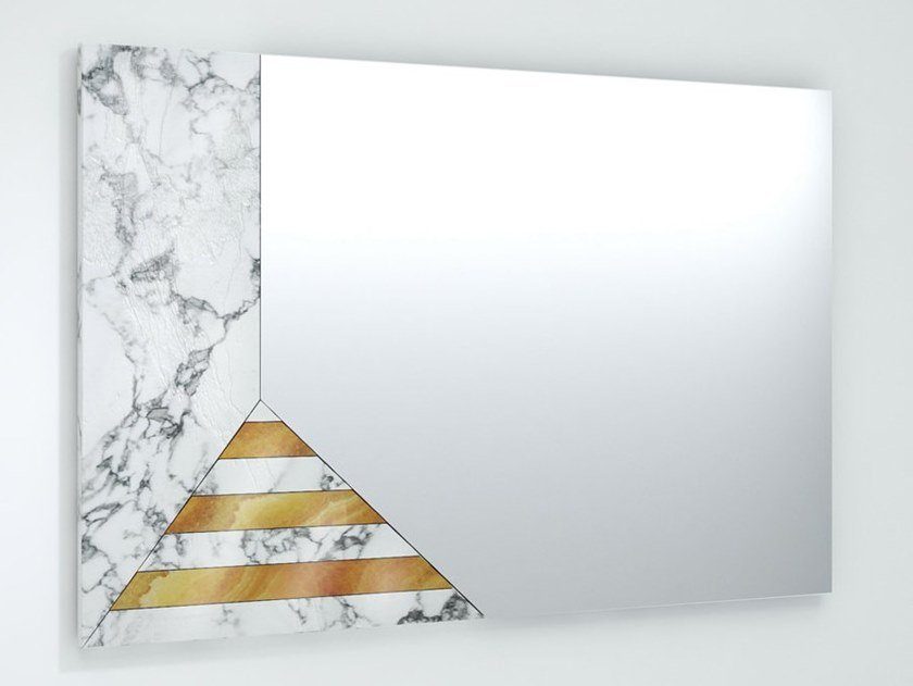 Rectangular wall-mounted mirror EARP by Visionnaire