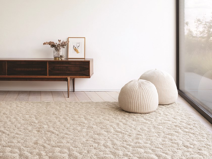 Solid-color rectangular rug EARTH | Rectangular rug by Casalis