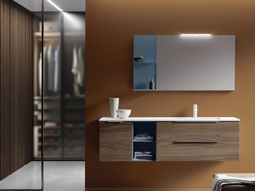Mobile lavabo sospeso in HPL con cassetti EASY 2 by MOBIL CRAB