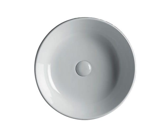Countertop round ceramic washbasin EASY 45   Round washbasin by GSG Ceramic Design