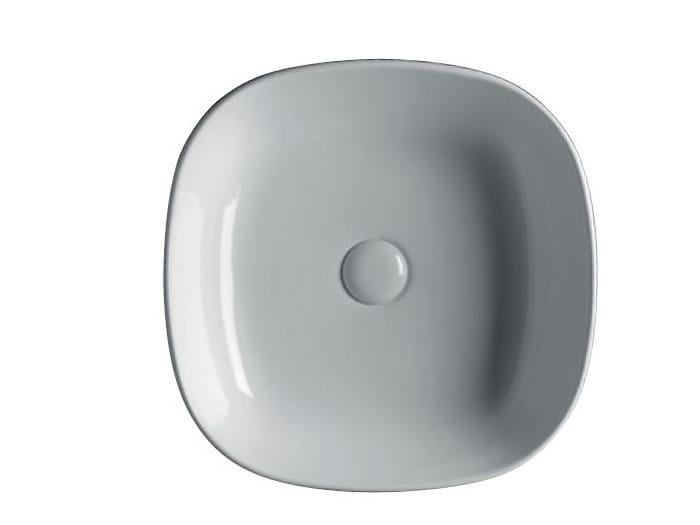 Countertop square ceramic washbasin EASY 45   Square washbasin by GSG Ceramic Design