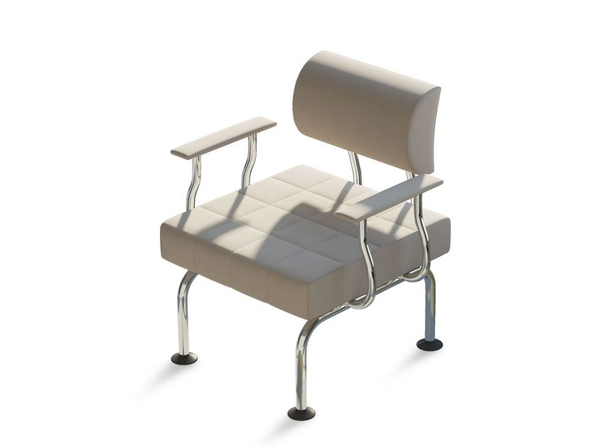 Easy chair with armrests CUBE PLUS   Easy chair by Arte & D