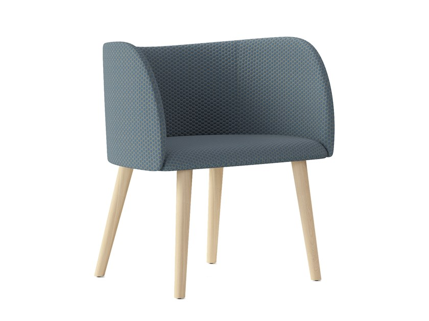 Fabric easy chair with armrests ROUND | Easy chair by Arte & D