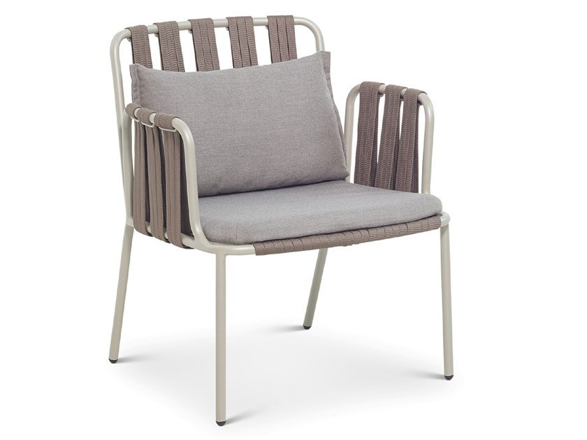 Garden easy chair with armrests TEJA | Easy chair by Bivaq