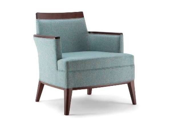 Upholstered fabric easy chair with armrests METRÒ | Easy chair by Cizeta L'Abbate