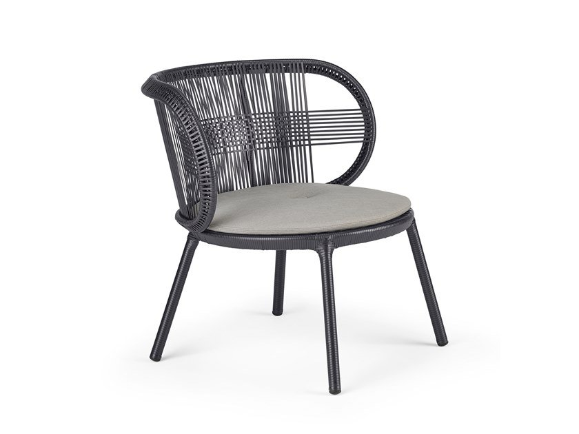 Synthetic fibre easy chair CIRQL | Easy chair by DEDON