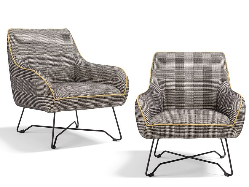 Fabric easy chair with armrests NAMY | Easy chair by Egoitaliano
