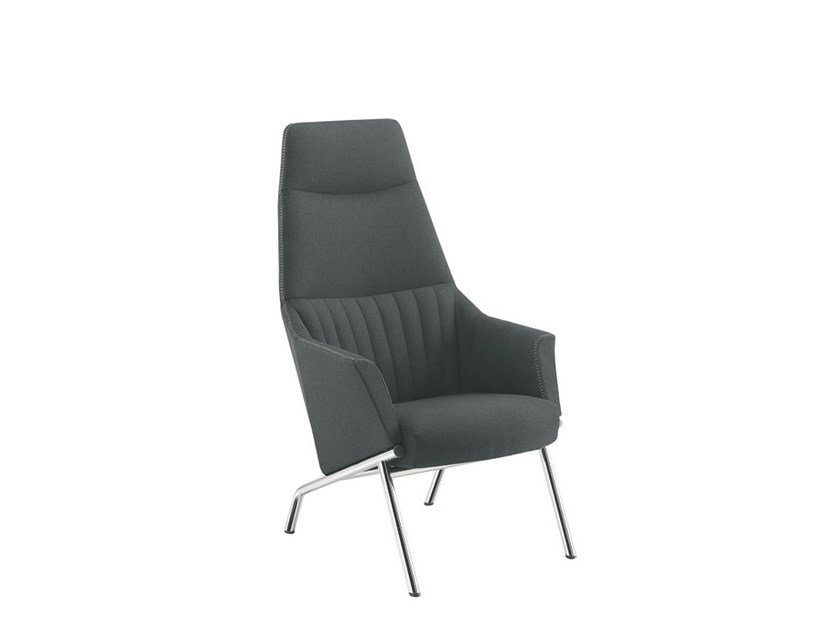 Guest chair high-back DAMA LOUNGE STRIP | Easy chair high-back by Sesta