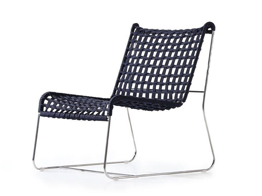 Garden stackable rope easy chair IN-OUT LO | Easy chair by Inday