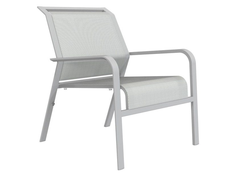 Garden stackable easy chair with armrests ZEPHYR | Easy chair by JANUS et Cie