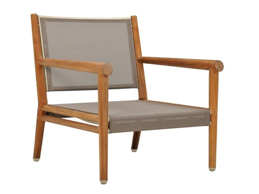 Garden teak easy chair with armrests KONOS | Easy chair by JANUS et Cie