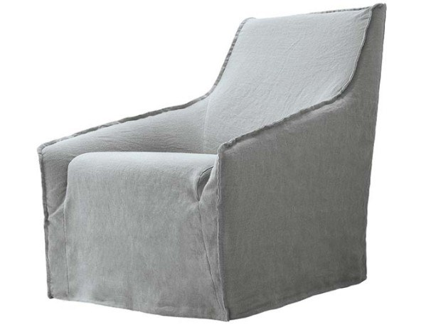 Upholstered fabric easy chair with removable cover HAIKU | Easy chair by JESSE