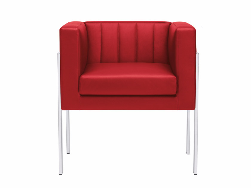 Upholstered easy chair with armrests YOU3 | Easy chair by Luxy