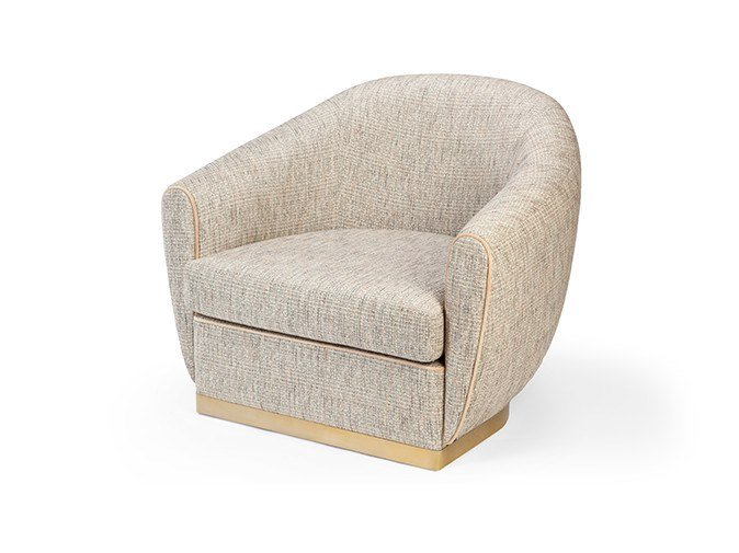 Fabric easy chair with armrests GRACE | Easy chair by Mambo Unlimited Ideas