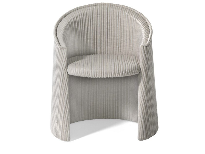 Upholstered fabric easy chair with armrests HUSK | Fabric easy chair by Moroso