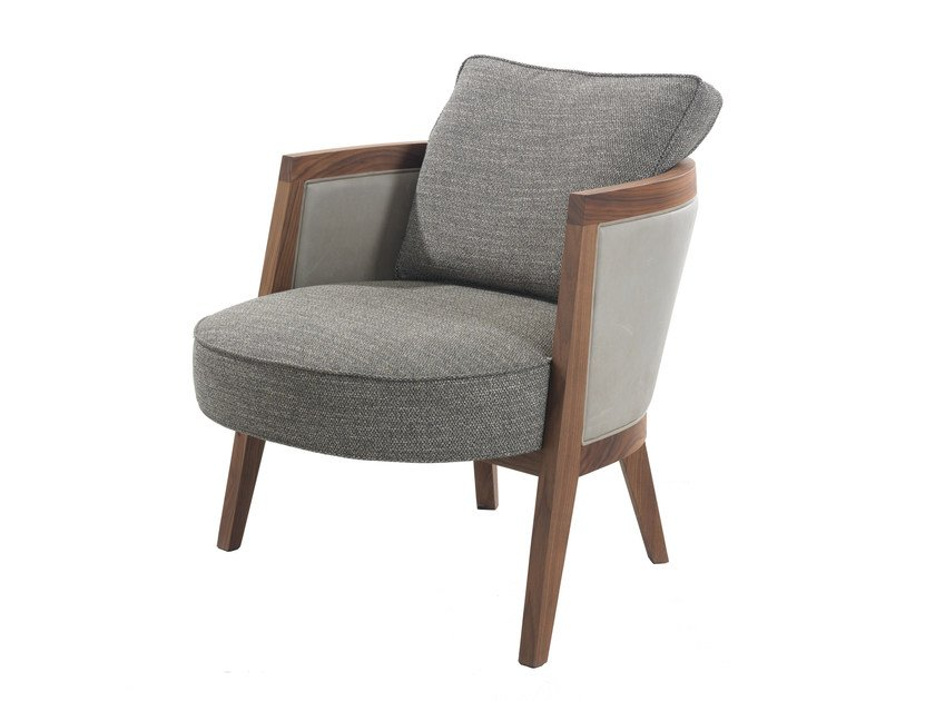 Upholstered easy chair with armrests COCOON | Easy chair by Pacini & Cappellini