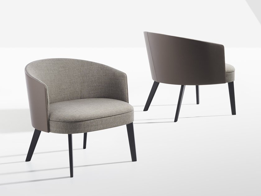 Fabric easy chair with armrests LENA | Easy chair by Potocco