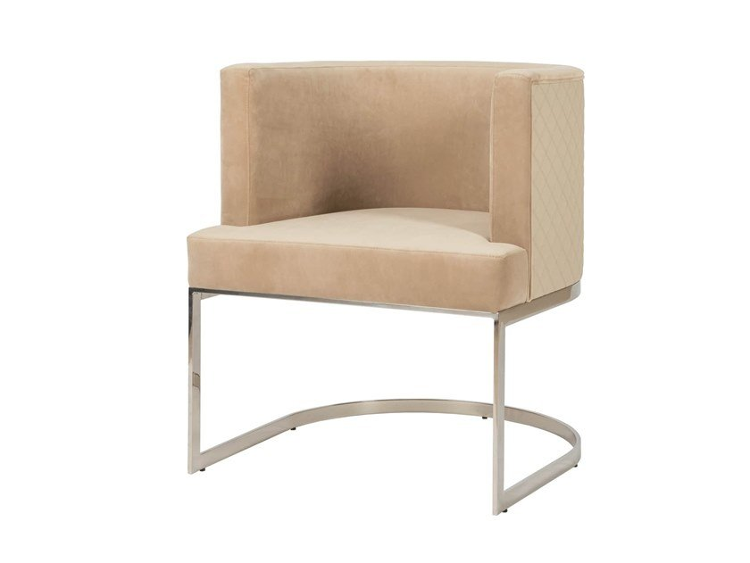 Upholstered leather easy chair with armrests CLUB | Easy chair by Stylish Club