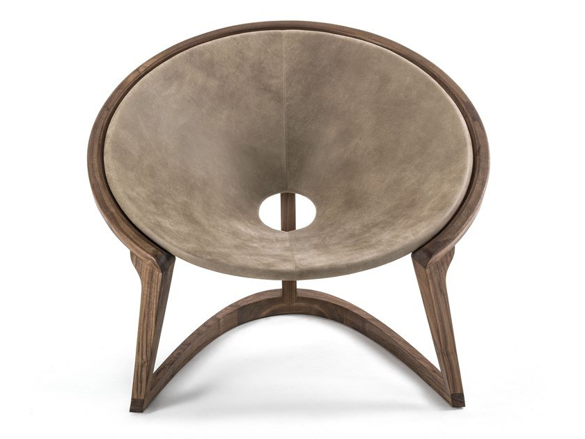 Suede easy chair YIN & YANG | Easy chair by Riva 1920
