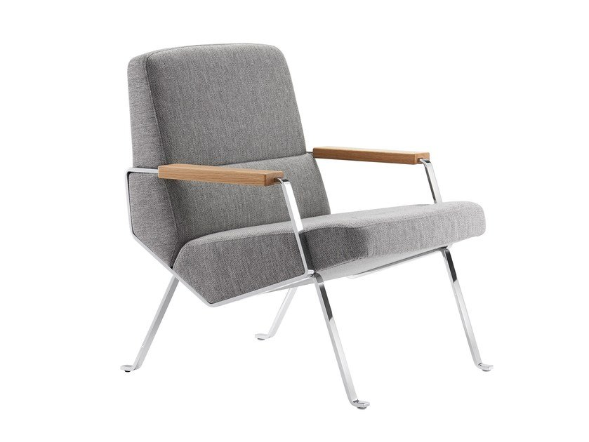 Upholstered fabric easy chair with armrests KOLLEKTION.58 | Easy chair by rosconi