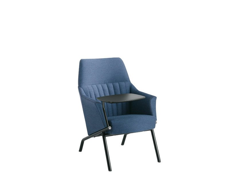 Fabric guest chair DAMA LOUNGE STRIP   Easy chair by Sesta