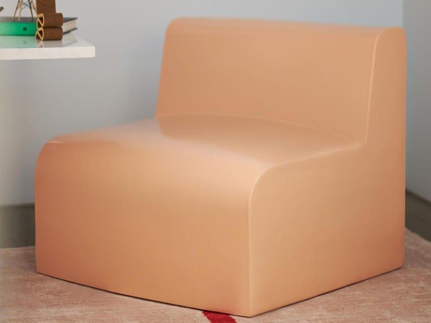 Coated foam garden armchair NEXT TO ME | Garden armchair by Stratta