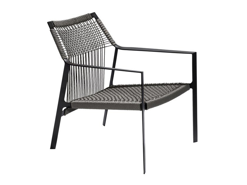 Garden Canax® easy chair with armrests NODI | Easy chair by TRIBÙ