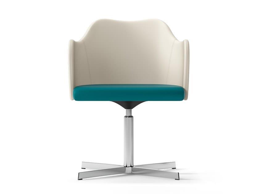 Swivel easy chair with 4-spoke base BLITZ   Easy chair with 4-spoke base by Arte & D