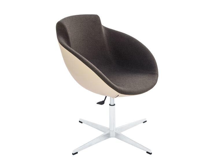 Swivel Fabric Easy Chair With 4 Spoke Base Tula