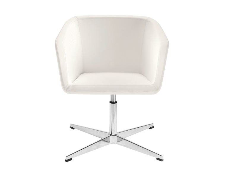 Upholstered Leather Chair With 4 Spoke Base MEG | Chair With 4 Spoke Base Amazing Design