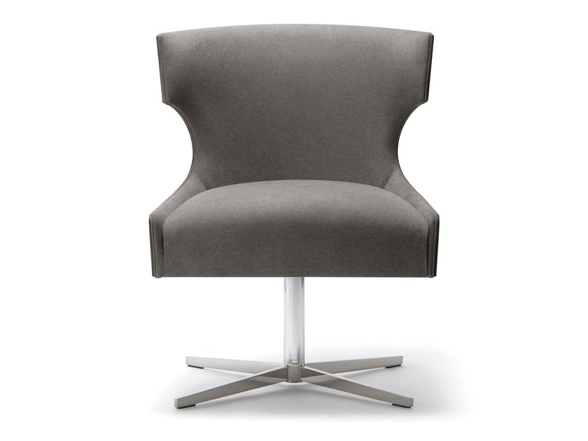 Fabric easy chair with 4-spoke base XIE | Easy chair with 4-spoke base by Tirolo