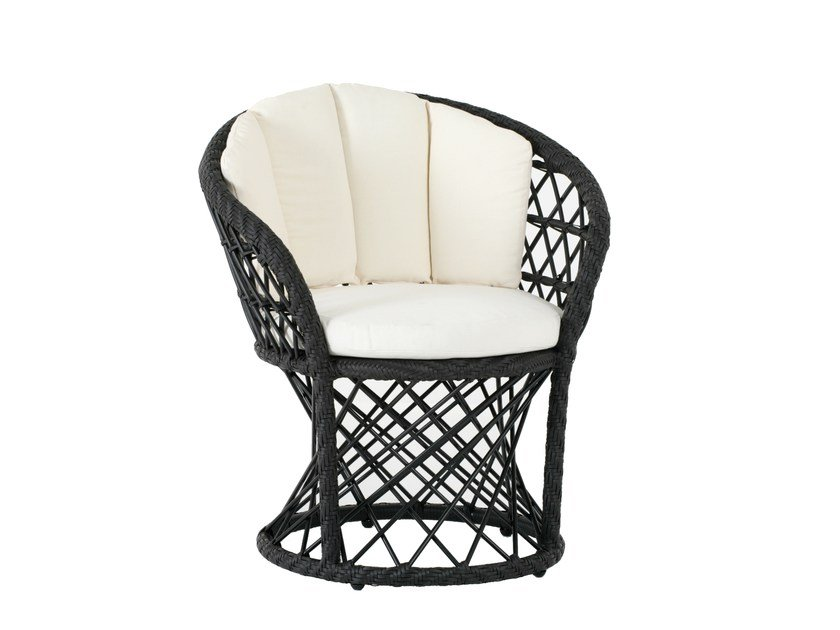 Garden armchair with armrests RAVEL | Easy chair with armrests by 7OCEANS DESIGNS