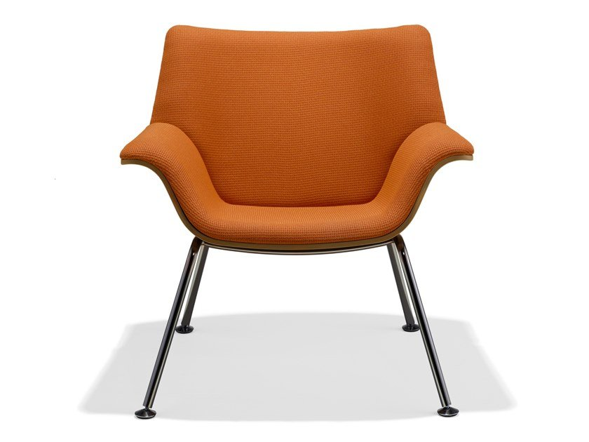 Upholstered fabric easy chair with armrests SWOOP | Easy chair by Herman Miller