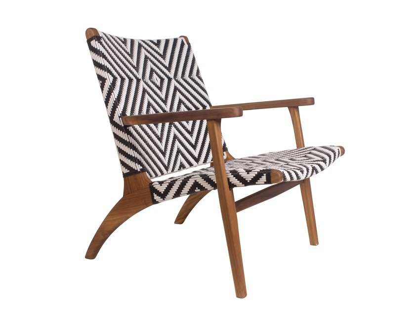 Garden easy chair with armrests CINÉMA D'ÉTÉ | Easy chair with armrests by Il Giardino di Legno