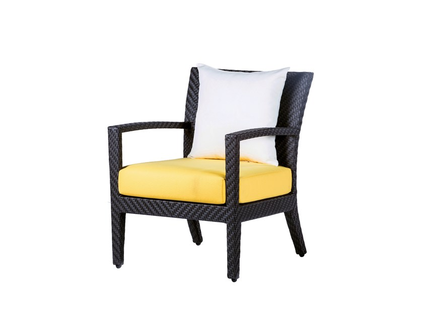 Garden armchair with armrests HAVANA | Easy chair with armrests by 7OCEANS DESIGNS