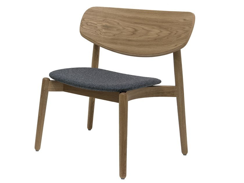 Wooden easy chair with integrated cushion FIZZ   Easy chair with integrated cushion by Bedont