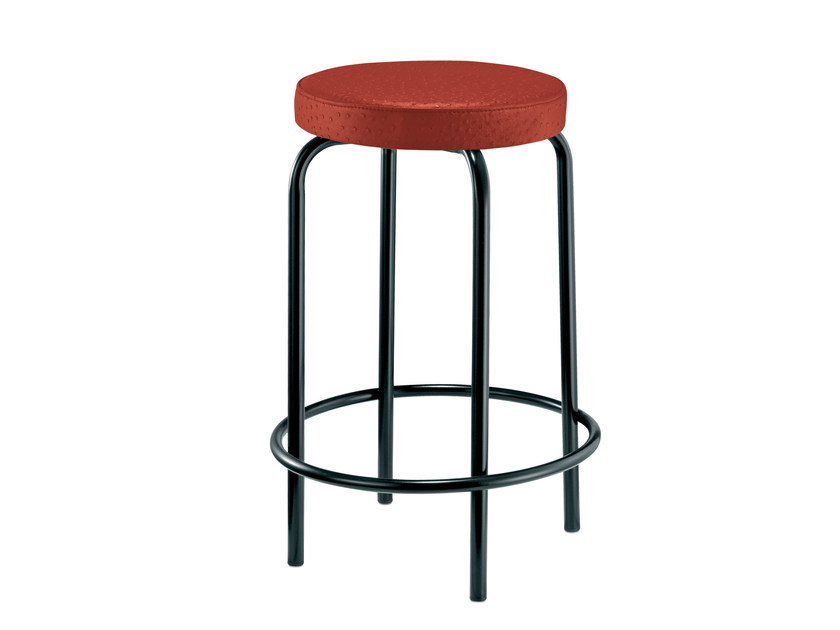 Upholstered stackable stool EASY | Upholstered stool by Mara