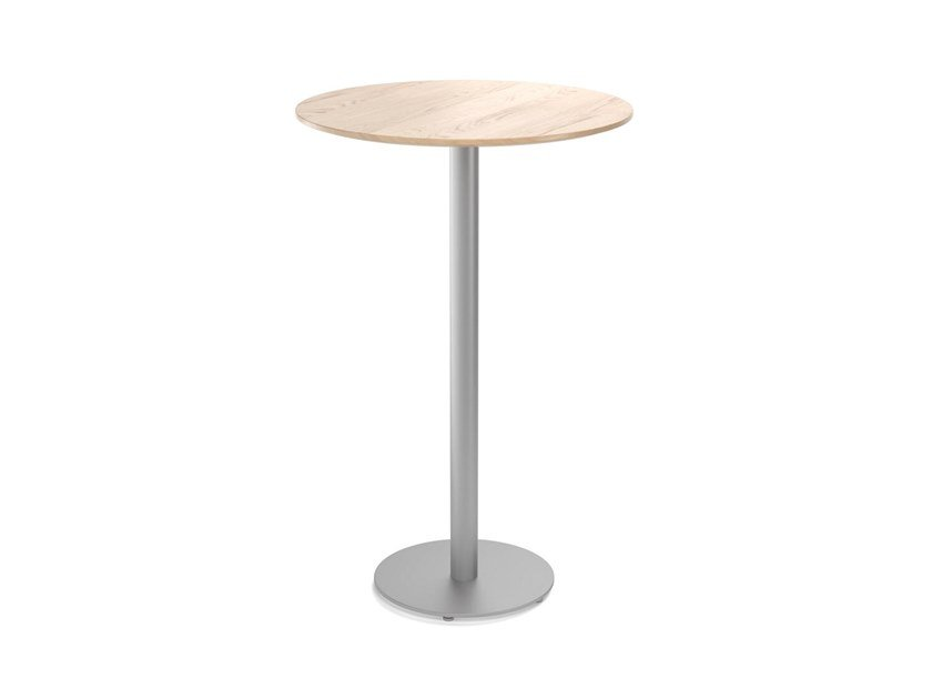Round wooden high table EASY MIX & FIX 629 by TON