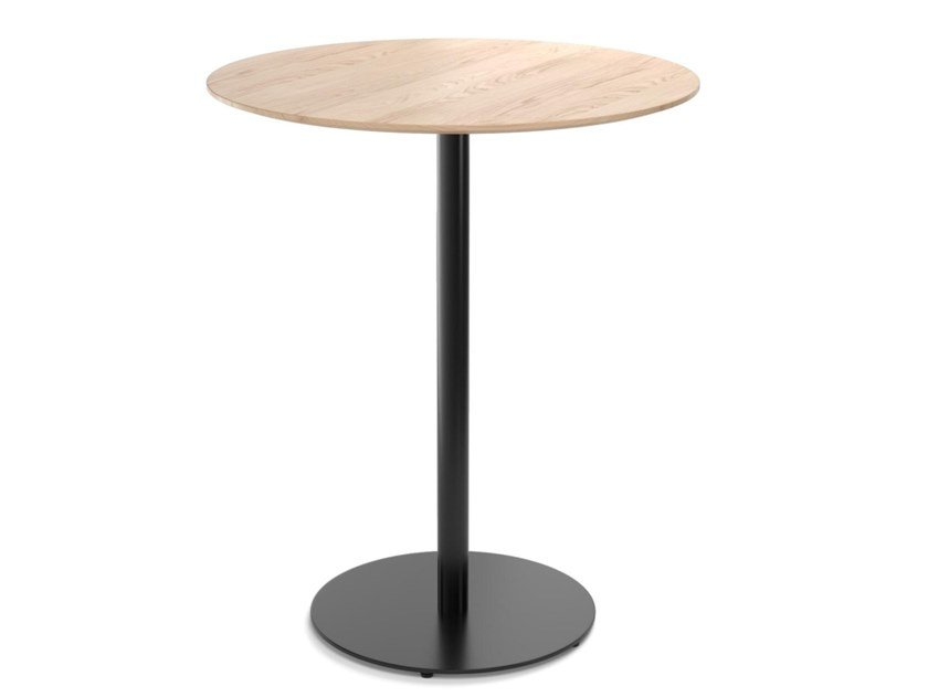 Round wooden high table EASY MIX & FIX 631 by TON