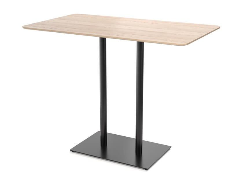 Tavolo alto rettangolare in legno EASY MIX & FIX 637 by TON