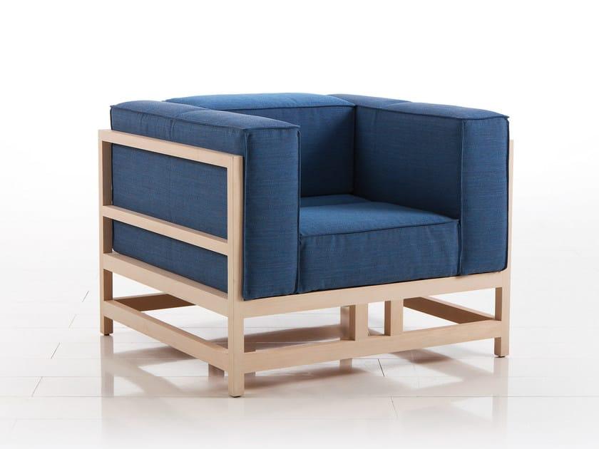 Fabric armchair with armrests EASY PIECES | Fabric armchair by brühl