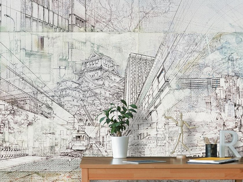 Industrial and modern wallpaper, PVC free, eco, washable EASY RIDER by Wallpepper