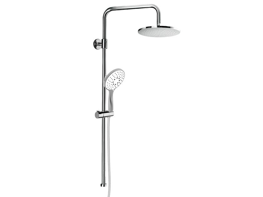 Wall-mounted shower panel with overhead shower EASY SHOWERS - 1416106 by Fir Italia